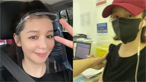 徐若瑄公開莫德納第二劑接種實況 透露新加坡人喝「椰子水」減緩發燒