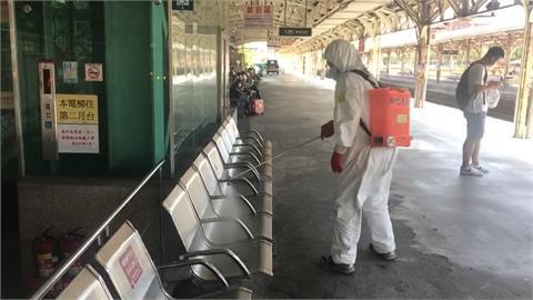 確診者5/14搭自強號從板橋到台南 台鐵緊急進行車站大消毒