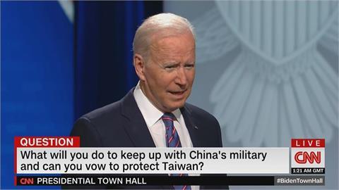 斷交以來首次明說!若中國攻台美會防衛台灣?拜登:是!我們有過承諾