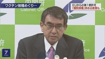 歐盟批准輝瑞疫苗出口 日本進入前置作業