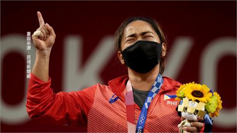 東奧女子舉重55公斤量級 菲律賓奪下史上首金