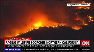 加州野火燒不停 吞噬面積約5600座足球場