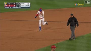 MLB/哈波生子後首開轟 費城人再見全壘打贏球