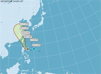 第5號颱風「丹娜絲」成形!18日恐登陸台灣