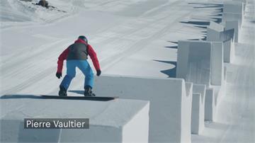 雪板技巧出神入化 精準飛越汽車令人讚嘆