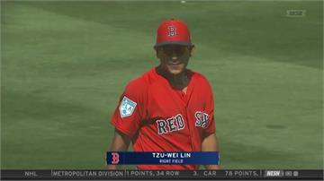 MLB春訓/林子偉替補上陣 張育成先發敲安