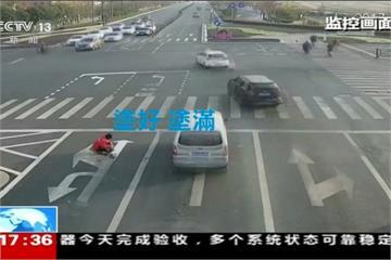 不想塞車! 江蘇男子自己畫馬路標線