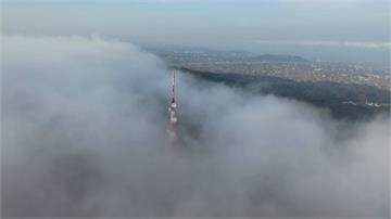 白晝霧鎖通霄 空拍機差點飛不回來