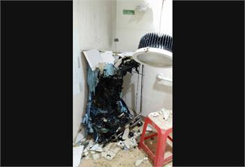 快新聞/安南醫院放射科更衣室無故起火 自動灑水器發揮效用無大礙