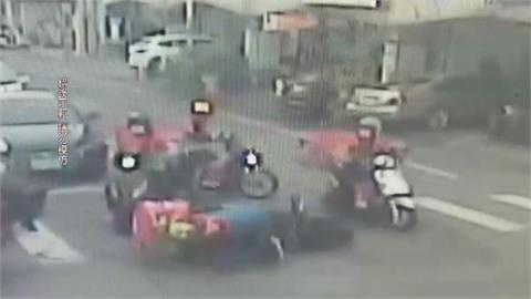 交通糾紛引爆衝突 兩派外送員險釀肢體衝突