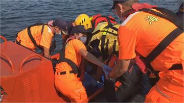 海釣疑遇大浪膠筏翻覆 南方澳3人落海釀1死