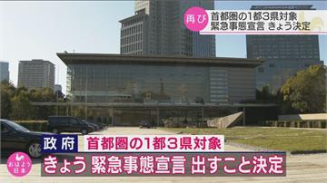 日本今日宣布 東京等四地進入一個月緊急狀態