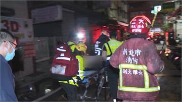 快新聞/新莊凌晨大火 母攜2子女跳3樓逃生 卡防火巷大腿骨折變形