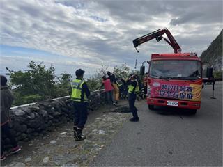 快新聞/清水斷崖拍照墜落20米深山谷 幸被樹枝卡住撿回一命