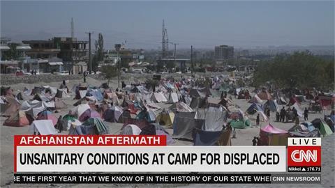 阿富汗經濟慘 數百家庭帳篷生活 吃飯睡覺排泄物在旁