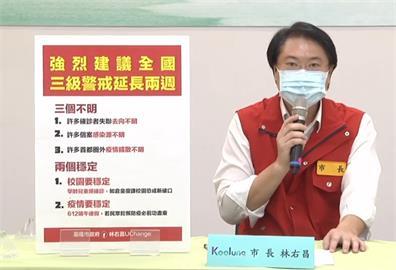 快新聞/「三不明兩穩定」林右昌強烈建議三級警戒延至6/11