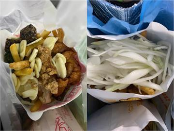 高雄鹹酥雞超狂配菜加到滿「蓋過2包主餐」  網熱議:你是哪一派?