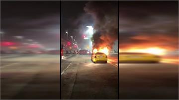 計程車捷運站外突爆炸起火 運將在車內被活活燒死
