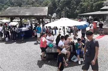 快新聞/宜蘭清水地熱遊憩區 250個停車位上午9時許宣告客滿