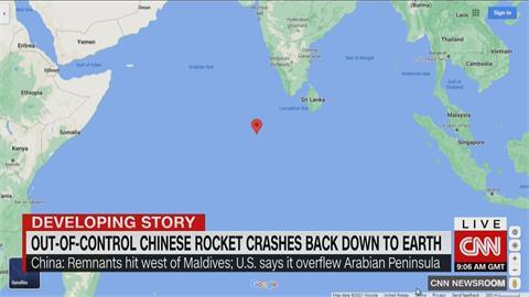 快新聞/全球驚魂! 長征五號失控墜印度洋「離有人島嶼僅42公里」