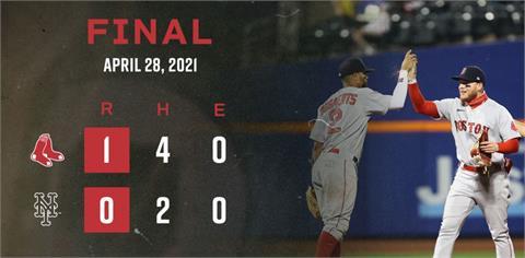 MLB/大都會遭紅襪完封 迪格隆平萊恩三振紀錄仍吞敗
