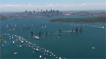 雪梨帆船賽壯觀 彷彿中古世紀海戰