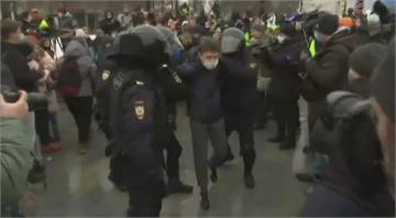 俄羅斯示威遍地開花 力挺反對派領袖納瓦尼