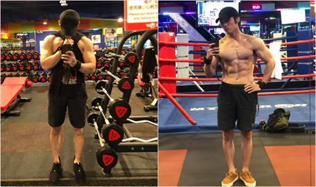 「南拳」張傑肌弱男變肌肉男!二度參加健美比賽體脂剩8%
