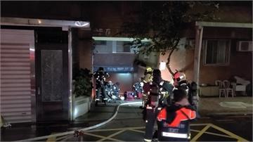 公寓地下停車場火警 2機車燒毀幸無人傷亡