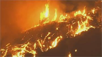 加州野火續燒 直升機救援受困客