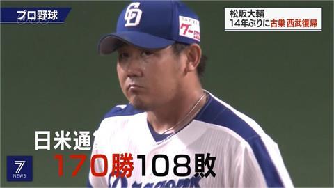 松坂大輔美日通算170勝 霸氣平成怪物步下投手丘