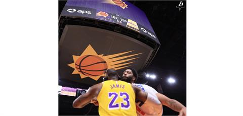NBA/戴維斯雙十詹姆斯23分 湖人季後賽扳平太陽