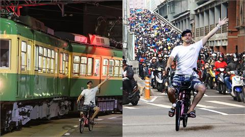 日本電車老外「與車同行」超紅!開心揮手變「哏圖」網友全笑翻