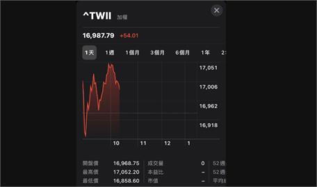 鴻海走堅鋼鐵股大漲 台股一度上揚近百點
