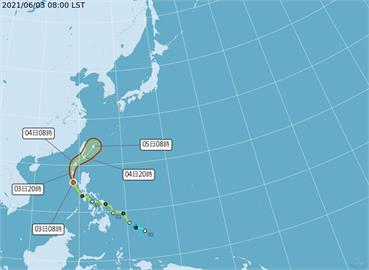 快新聞/彩雲颱風明天最靠近台灣 氣象局:不排除發海警