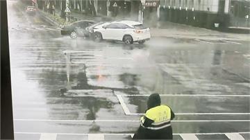 分局前囂張闖紅燈釀車禍 竟直接肇事逃逸