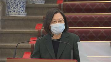 快新聞/蔡總統重申兩岸和平「關鍵鑰匙在中國手上」 文攻武嚇沒有用