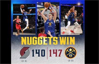 NBA/小波特關鍵三分彈 金塊二度延長砸昏拓荒者聽牌