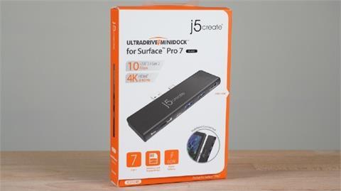 3C/Surface Pro 7 / 7+ 的得力助手!j5create JCD324 Surface Pro 7 系列專用 Hub