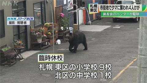棕熊現蹤札幌攻擊民眾 10間中小學臨時停課