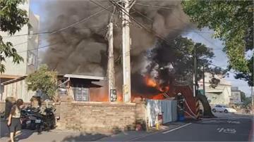 台中大雅機油倉庫火警碰碰碰!附近民眾嚇壞