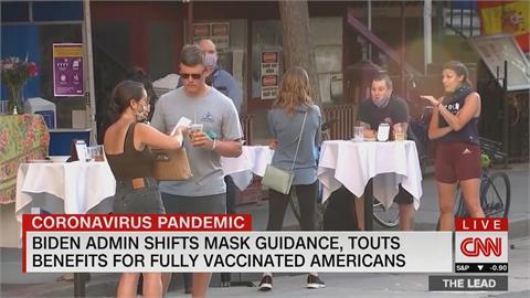 完成疫苗接種 美CDC:戶外社交可免戴口罩