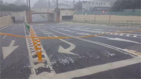 台南午後強降雨 市區多處積水 小東地下道暫時封閉
