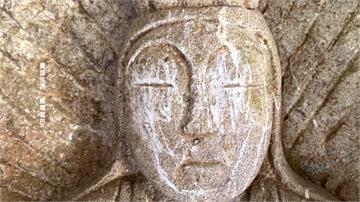 缺德!錐麓古道百年觀音像臉被刮花  僅能開罰三千 嚮導籲改放仿品或加裝玻璃