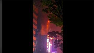 南韓蔚山33層高樓起火 88人受傷