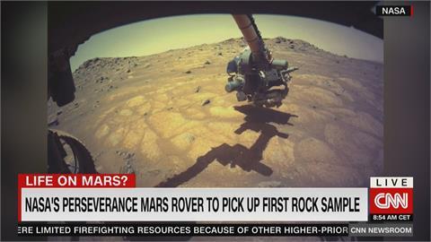 探索火星生命跡象 NASA探測車首次展開岩石採樣