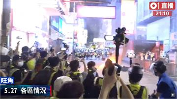香港國歌法二讀掀抗爭!旺角街頭晚間起火、傳爆炸聲