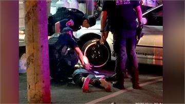 機車零件竊賊拒檢 衝撞客運與警追逐 遭員警成功壓制