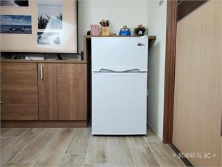 小冰箱也有雙層冷凍庫!東元 TECO 100 公升雙門冰箱 R1001W 開箱