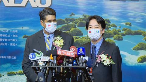 快新聞/台帛旅遊泡泡正式啟動! 賴清德:台灣跟帛琉是真愛